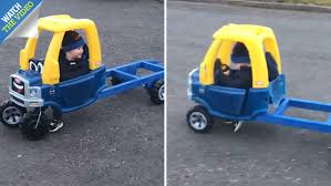 Scots Dad Goes Viral After Building Customised Little Tikes Recovery ... Little Tikes Cozy Truck Find Offers Online And Compare Prices At Wunderstore Princess Ford Best 2018 Used Pick Up Trucks New Cars And Wallpaper Cstruction Toys Building Blocks John Lewis 2in1 F150 Svt Raptor Red Kids Rideon Step2 Shop Rc Wheelz First Racers Radio Controlled Car Free Images About Toytaco Tag On Instagram Coupe Toyworld Readers Rides 2013 From Crazy Custom To Bone Stock Trend Jeep Bed Tires Toddler Plans Diy For S Frame Youtube Home Decor