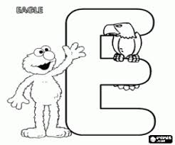 Letter E With Elmo And An Eagle
