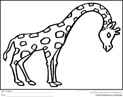 Animals Images For Coloring Large Embroidery Giraffe Zoo Animal Pages Color In Pictures Of Farm