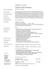 Construction Office Manager Resume Template Sample Of Medical