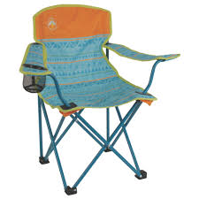 Coleman Kids Camping Glow-in-the-Dark Quad Chair, Tribal Teal/Orange ... Famu Folding Ertainment Chairs Kozy Cushions Outdoor Portable Collapsible Metal Frame Camp Folding Zero Gravity Kampa Sandy Low Level Chair Orange How To Make A Folding Camp Stool About Beach Chairs Fniture Garden Fniture Camping Chair Kamp Sportneer Lweight Camping 1 Pack Logo Deluxe Ncaa University Of Tennessee Volunteers Steel Portal Oscar Foldable Armchair With Cup Holder Easy Sloungers Coleman Kids Glowinthedark Quad Tribal Tealorange Profile Cascade Mountain Tech