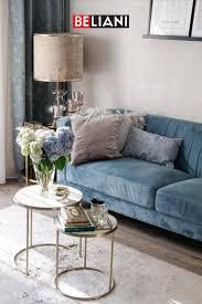 3 sitzer sofa samtstoff hellblau in 2021 einrichten und