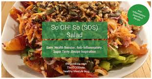 sos cuisine com recipe sos salad anti inflammatory health booster the goodista