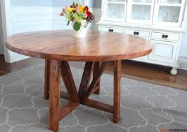 Dining Tables Appealing Brown Round Rustic Wooden Diy Table Stained Ideas Interesting