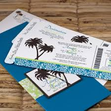 Beach Wedding Themed Invitation