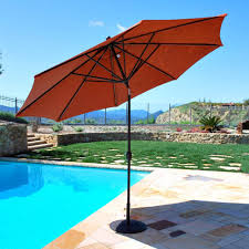 Patio Umbrella Offset Tilt by Outdoor Red Garden Umbrellas For Sale 11 Foot Market Umbrella