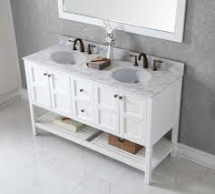 Double Sink Vanity Top by Virtu Usa Ed 30060 Wmro Wh Winterfell 60 In Bathroom Vanity Set