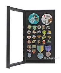 Image Is Loading Lapel Pin Medal Display Case Cabinet Shadow Box