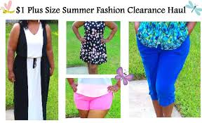 1 plus size summer fashion clearance haul try on walmart