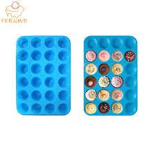 backformen 13x9 zoll mini muffin silikon form 24 hohlraum