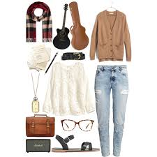 A Fashion Look From January 2015 Featuring White Lace Up Shirt Cardigan Top And 5
