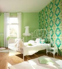 wow tolle ornamente in grün tapetenidee fürs schlafzimmer