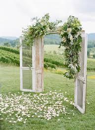 Whimsical Outdoor Wedding Ceremony Door Backdrop