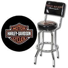 Harley Davidson Bar Stool With Backrest