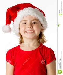 little girl wear a santa hat stock photo image 22072340