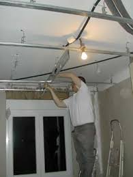 pose rail placo plafond pose des rails à placo du plafond notre maison chantier jour
