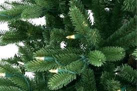 Balsam Fir Artificial Tree A Close Up Of Lights On Our Also
