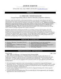 Modern Resume Template Senior Level Sample For