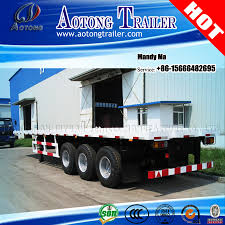 China Tri-Axle 20FT 40FT Container Semi Trailer, Flatbed Truck ...
