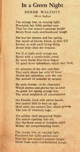Poems About Halloween Night by In A Green Night U201d By Derek Walcott 1930 2017