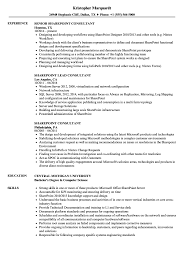 Download Sharepoint Consultant Resume Sample As Image File