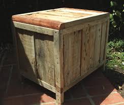 Storage Chest Reclaimed Pallet Wood Vintage Style Rustic Blanket