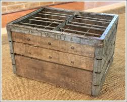 How To Make An Ottoman Crate OttomanDiy OttomanMilk CratesVintage