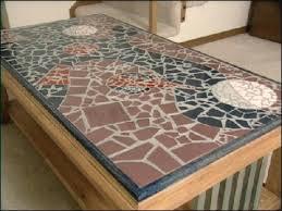 glass coffee table mosaic tile coffee reclaimed wood
