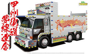 AOSHIMA 052921 Japanese Decoration Truck 1/32 BATTLE ROAD DREAM LINE ...