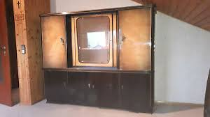 antik wohnzimmer buffet schrank vitrine 50er 60er jahre