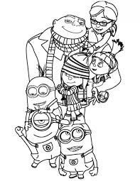 Despicable Me Minions Printable Minion Coloring Pages