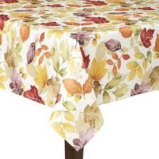 Multi Colored Leaves Tablecloth