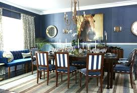 Blue And White Dining Room Navy Interior Decoration Rooms House Season