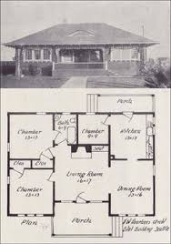 Images House Plans With Hip Roof Styles by 1921 Bungalow Cottage Hip Roof Simple 1 Bedroom Home Vintage