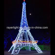Large LED Motif Lighting Eiffel Tower Outdoor Christmas Lights