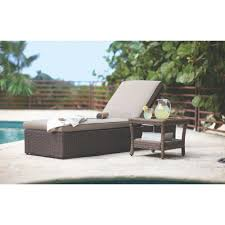 Patio Cafe North Naples by Home Decorators Collection Naples Brown Patio Chaise Lounge With