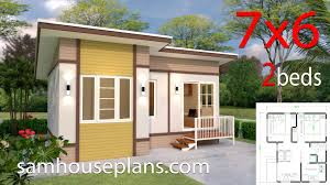 100 Housedesign Small House Design 7x6 With 2 Bedrooms Sam House Plans