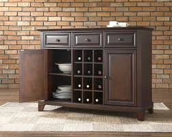 Dining Room Buffets Sideboards Exciting Brick Wall With Dark Buffet Sideboard And Cozy Carpet Tiles Plus Wood