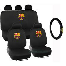 Betty Boop Seat Covers And Floor Mats by New Fc Barcelona Team Logo Front U0026 Back Car Seat Covers Steering