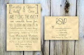 Rsvp Wedding Invitations Rustic With Cards Examples Of
