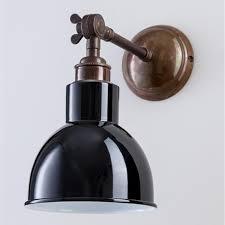school electric churchill black brass wall light