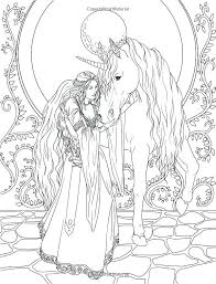 Unicorn Coloring Pages Printable Page Also And Fairy