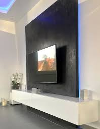 perfektes tv vergnü tv wand selber gestalten
