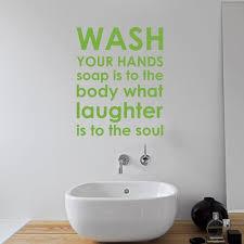 wandtattoo waschen badezimmer regeln happy larry farbe gold