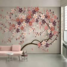 foto tapete 3d stereo baum blumen wandmalereien wohnzimmer schlafzimmer romantische wohnkultur wand aufkleber selbst adhesive wand papiere 3 d