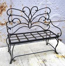 Decoration Transform Outdoor Space Into An Enchanted Garden With Black Butterfly Metal Patio Chair Wrought Iron