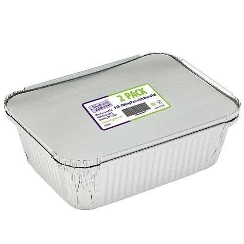 Nicole Home Collection 01545 5lboblong Pan with Board Lid - 70 per Case, White