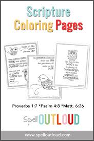 Scripture Coloring Pages From Spell Outloud