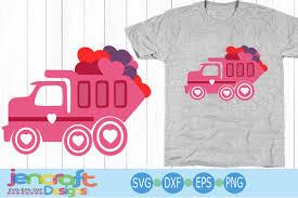 100 Pink Dump Truck Valentines Day SVG Heart Svg Svg File Des