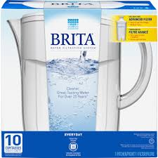 Brita Water Filter Faucet Install by Brita 10 Cup Everyday Bpa Free Water Pitcher With 1 Filter White